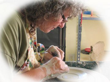 Dani Montoya- Working on the Potters Wheel