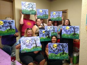 Whimsical Tree Painting Party